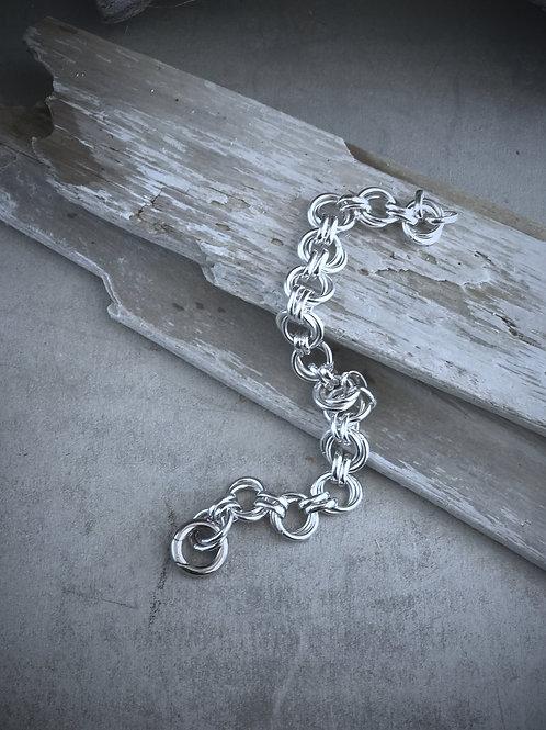 sterling silver double link bracelet