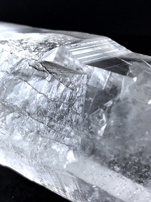 0.73lb lemurian seed twinned quartz crystal