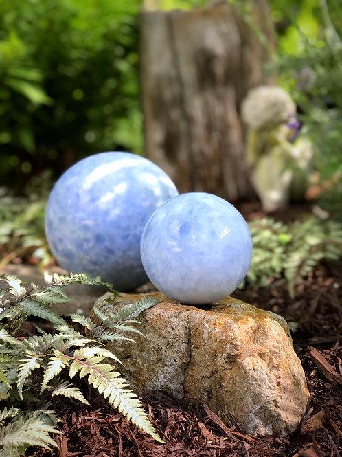 """3"""" blue calcite orb"""