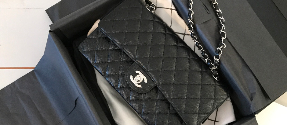 Buying my first Chanel bag.