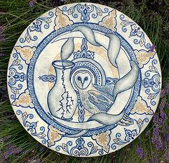 Wild Mythos Painted Medicine Drum - Threshold Midwife by Palika