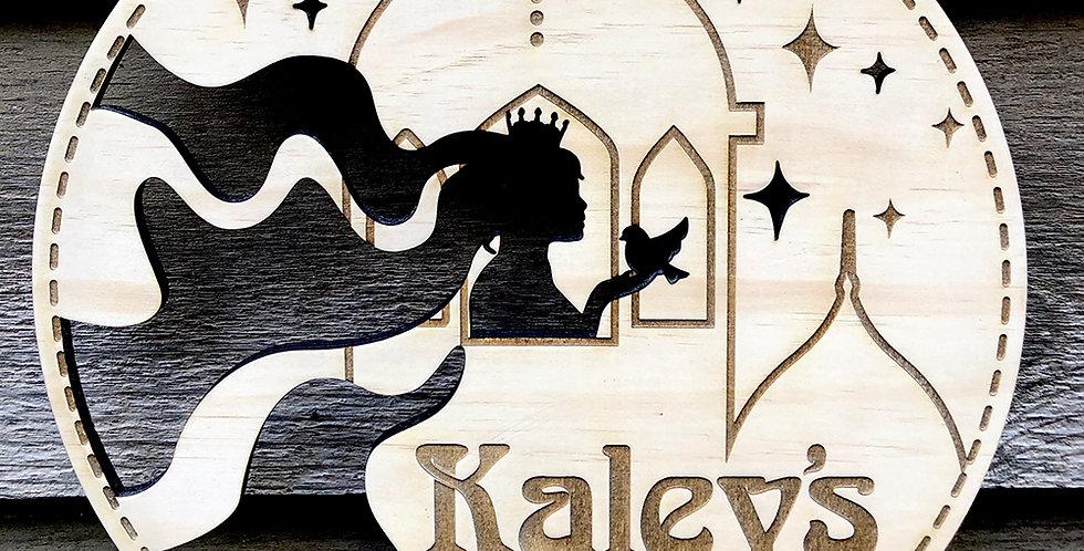 Customised Rapunzel Wall Hanging