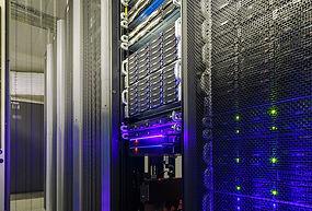 Data Center with purple light