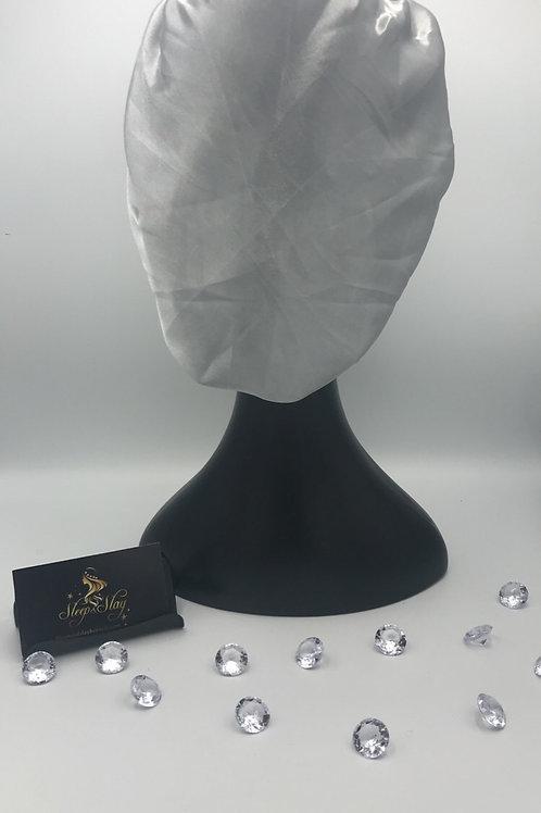 Gray Satin Bonnet