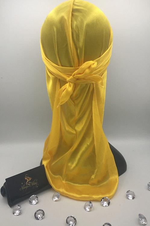 Yellow Satin Du Rag