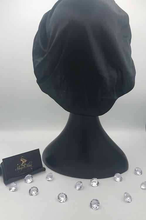 Black Satin Bonnet