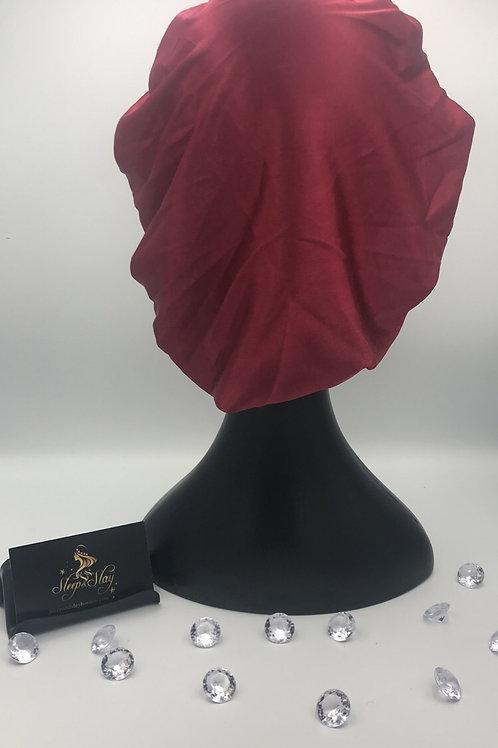 Red Satin Bonnet