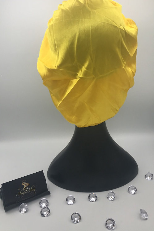 Yellow Satin Bonnet