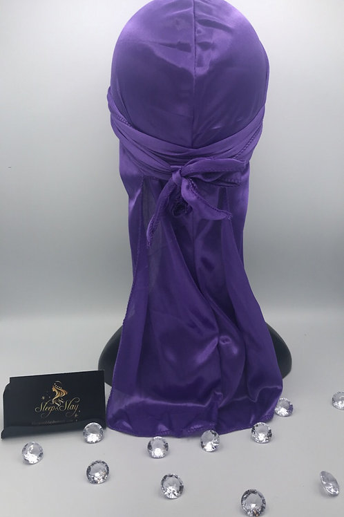 Purple Satin Du Rag