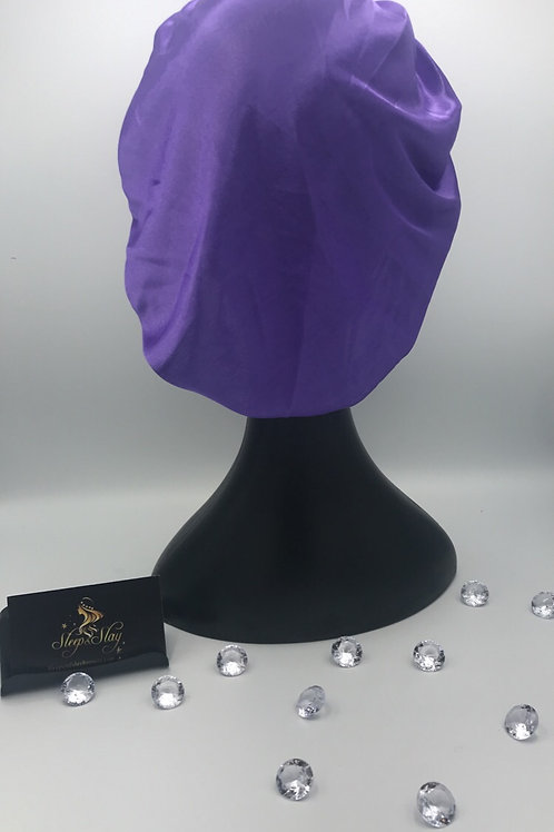 Purple  Satin Bonnet
