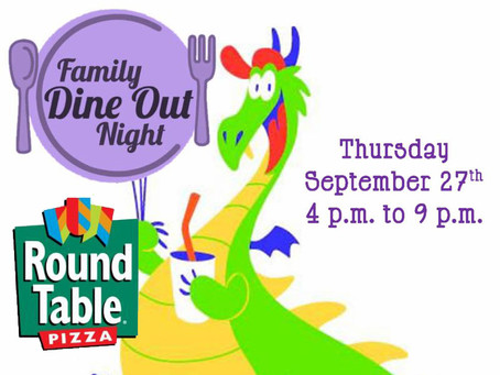 Support St. George's With a Family Dine Out Night - Sept. 27th