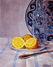 Lemons with Old Spanish Plate