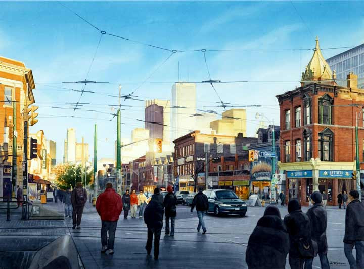 Queen Street at Spadina