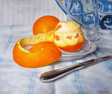 Oranges with Old Spanish Plate