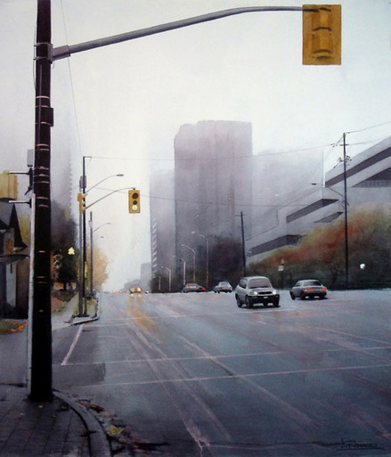 Fog at Sheppard and Yonge St