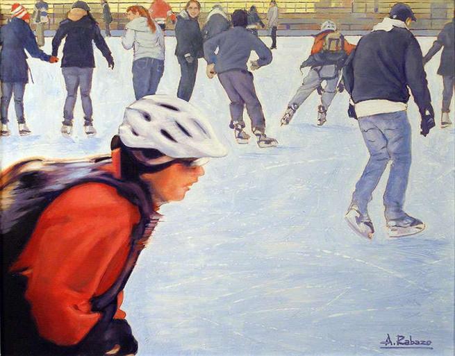 Skaters at Nathan Phillips Square, Toronto