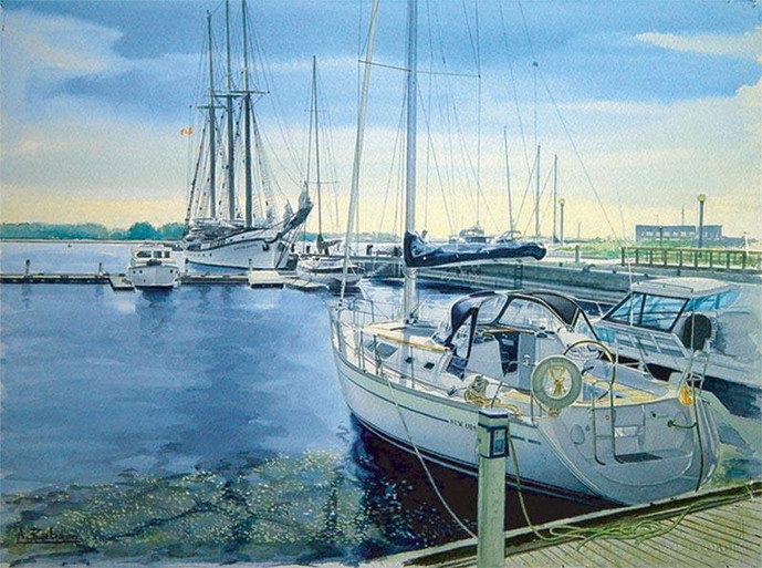 Marina at Lake Ontario