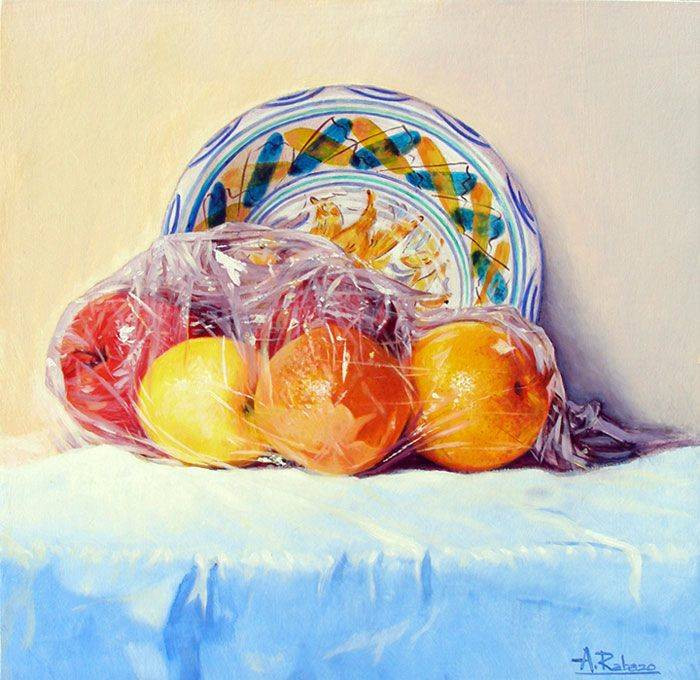 Oranges, Apples and Plate