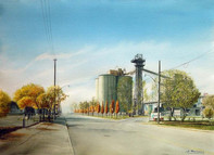 Silos by the Toronto Harbour