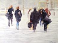 Snowstorm at Yonge and Sheppard, Toronto
