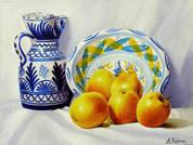 Apples with Spanish Ceramics