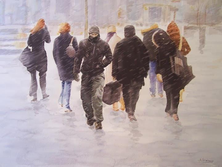 Snowstorm at Sheppard and Yonge