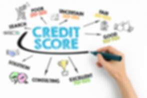 Credit Score concept. Chart with keyword