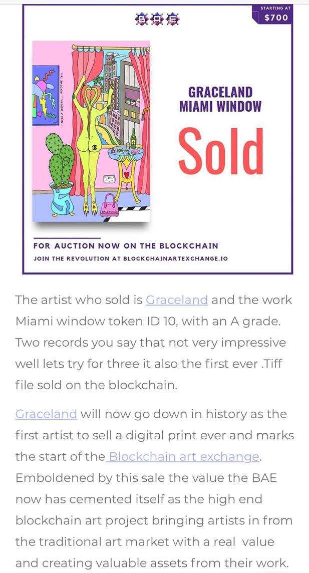 Highest Blockchain  art work ever sold!