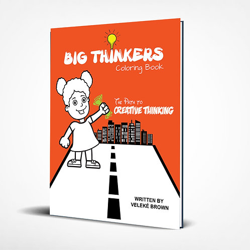 Big Thinkers Coloring Book (Girl Character)