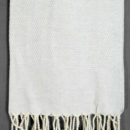 Pestemal Hand Towel Natural with diamond texture