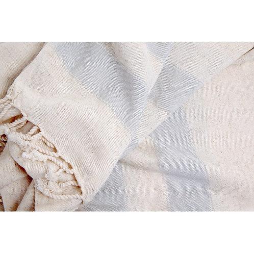 Pestemal Towel Natural/Thick Grey Stripe