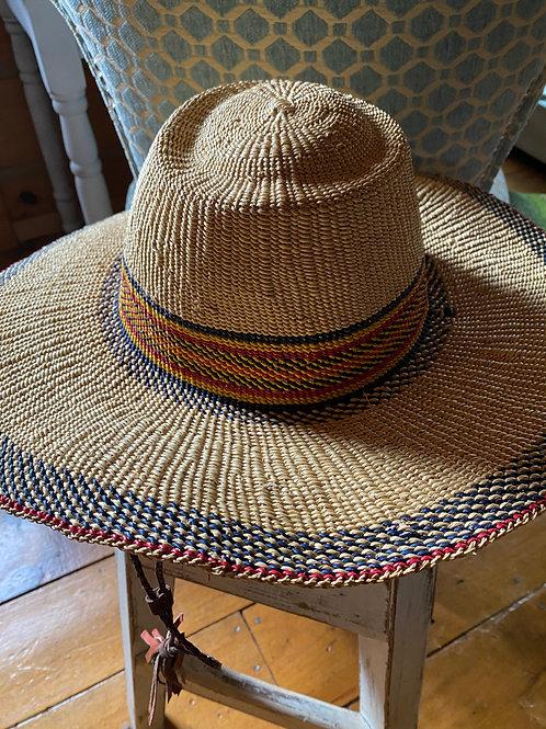 Bolgatanga woven grass sun hat