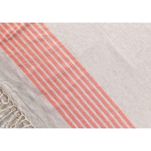 Pestemal Towels Natural/Orange Stripe