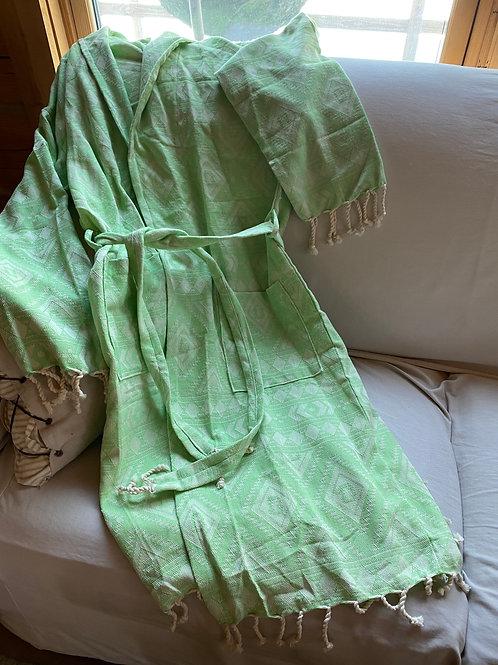 Turkish Bath robe, Spring green