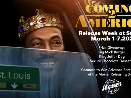 Steve's Hot Dogs & Amazon Studios Partner for Release of Coming 2 America