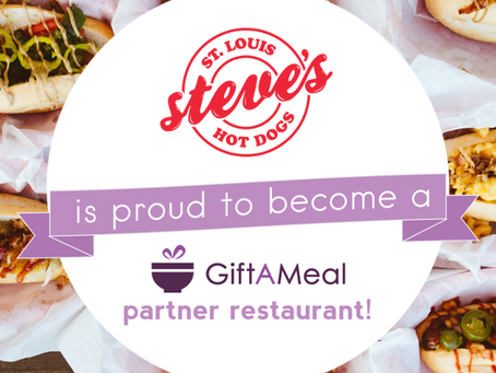 Steve's Hot Dogs becomes a Gift A Meal Partner!