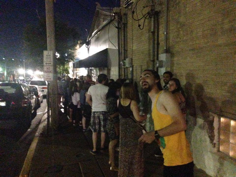 Lines down the block in 2014 waiting for the Strange Donuts DONE Dog St Louis Hot Dogs Restaurants Best Restaurants in St Lousi