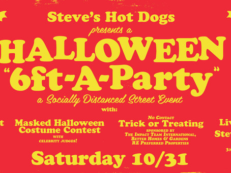 Halloween Six Feet ApartY Coming Up on October 31