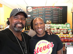 Rene Knott visits Steve's Hot Dogs