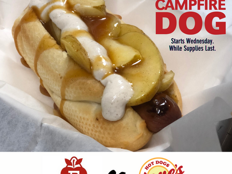 Eckerts Campfire Dog Launches Wednesday October 7!