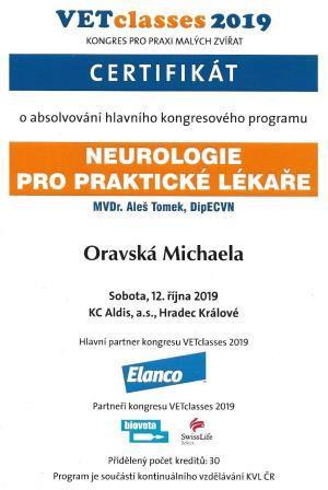 Michaela Oravska - Certificate 36