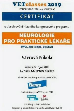 Nikola Vavrová - Certificate 11