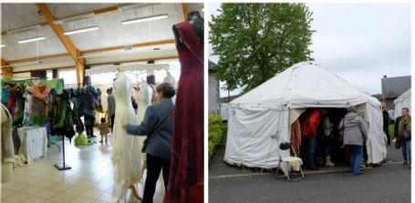 Journées Européennes du Feutre Felletin Creuse Limousin Salon des Créateurs et marché des fibres et des couleurs, créateurs textiles, stages feutre de laines,