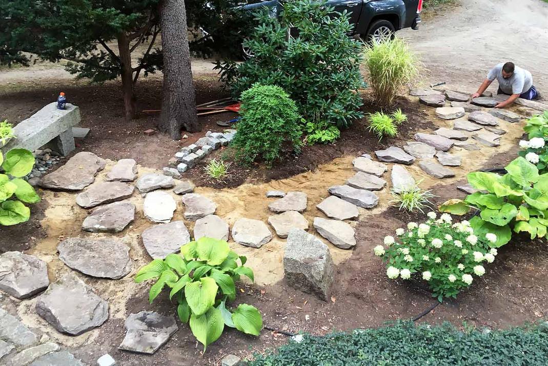 Stone Walkway Construction