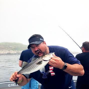 Joe is happy with his catch!