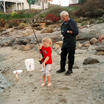 Alexis and Grampy Russell
