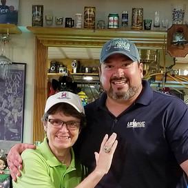 Joe Andruzzi and Hook Co-Chair Pat Morris @ Scrawney-Morgan's