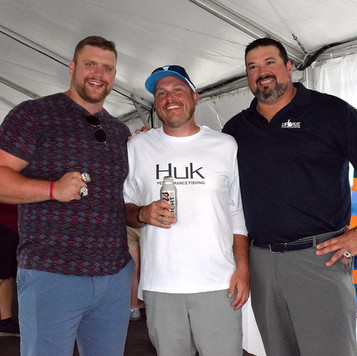 Joe Andruzzi, NE Patriot Offensive Lineman Ted Karras & Matt Sheppard of Three Lanterns, Gloucester