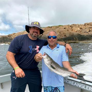 Joe Andruzzi &  Brek Beard - first catch