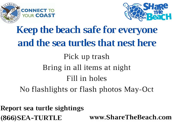 Share the Beach Yard Sign (Local Delivery Only)